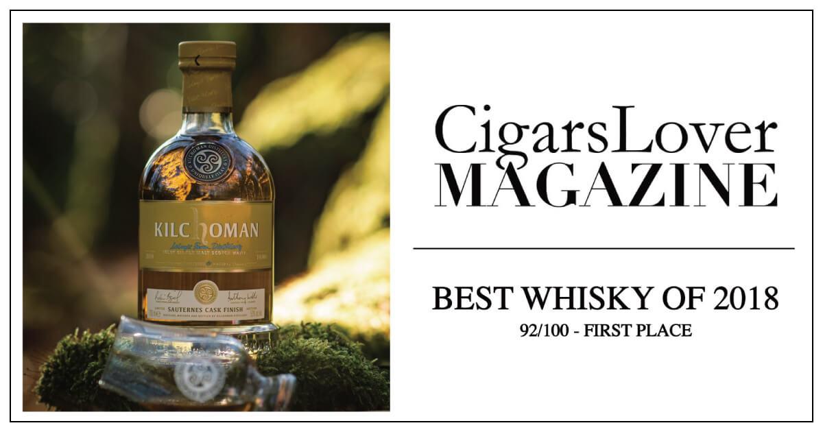キルホーマン ソーテルヌカスクが「CigarsLover Magazine」の選ぶ2018年ベストウイスキーに