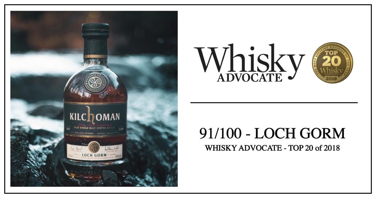 キルホーマン ロッホゴルムが「Whisky ADVOCATE」の選ぶ2018年TOP20ウイスキーに